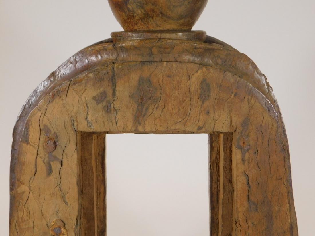 19C.SE Asian Hardwood Reliquary Temple Frame - 5
