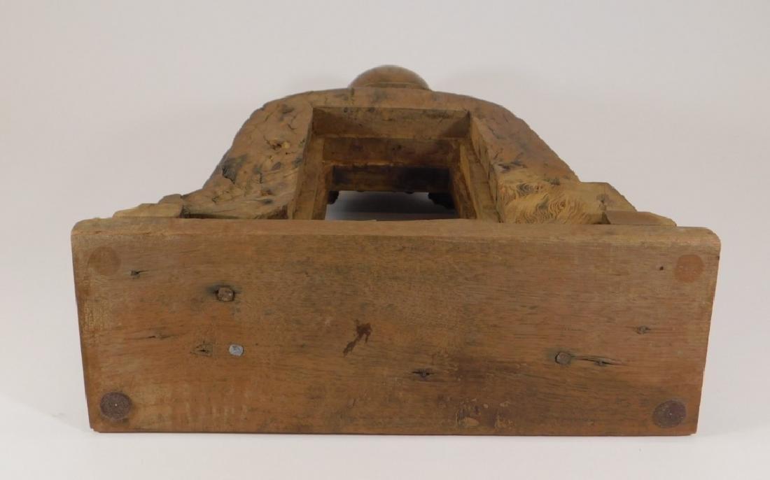 19C.SE Asian Hardwood Reliquary Temple Frame - 6