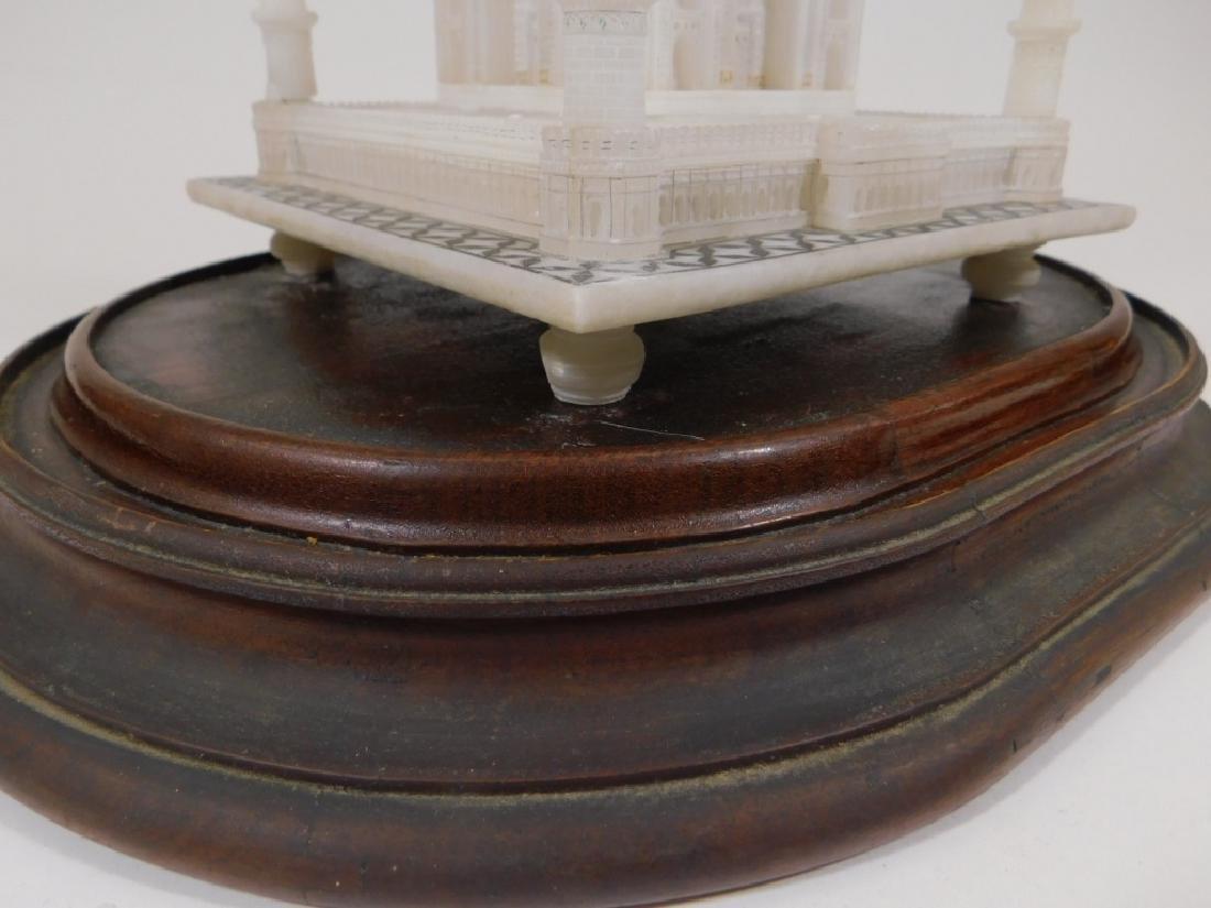 19C Indian Alabaster Taj Mahal Model in Glass Dome - 4
