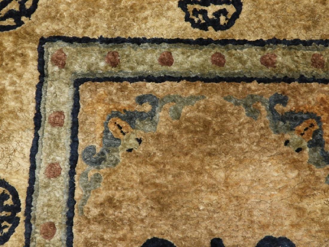 C.1930 Chinese Earth Tone Silk Carpet Matte - 4