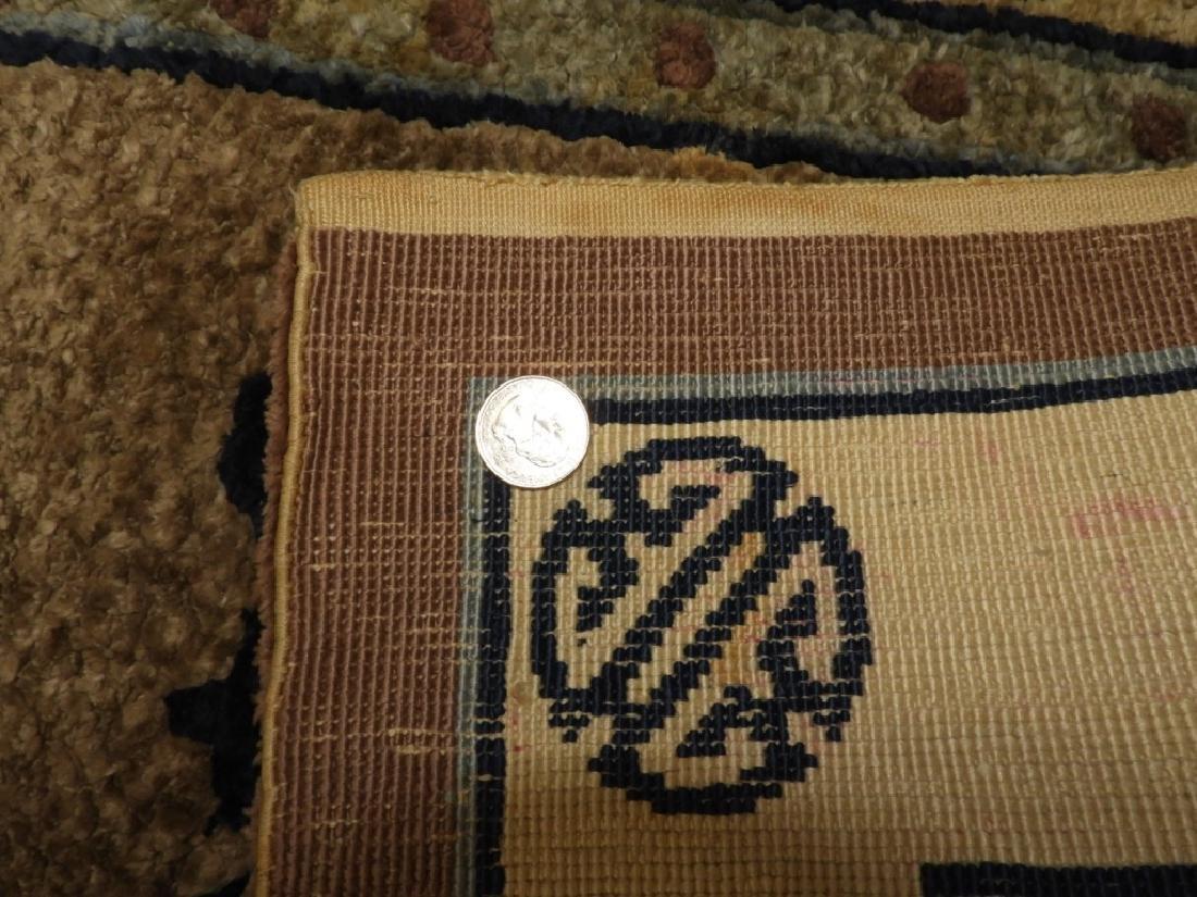 C.1930 Chinese Earth Tone Silk Carpet Matte - 5