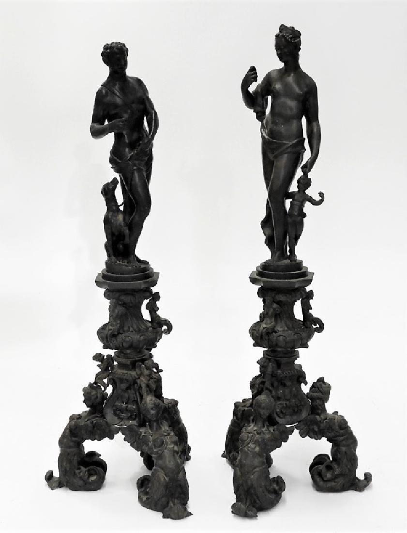 PR Italian Grand Tour Cast Iron Garden Statuary