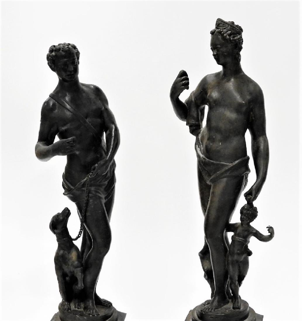 PR Italian Grand Tour Cast Iron Garden Statuary - 2