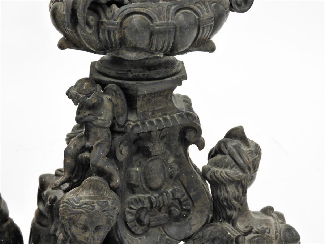 PR Italian Grand Tour Cast Iron Garden Statuary - 7