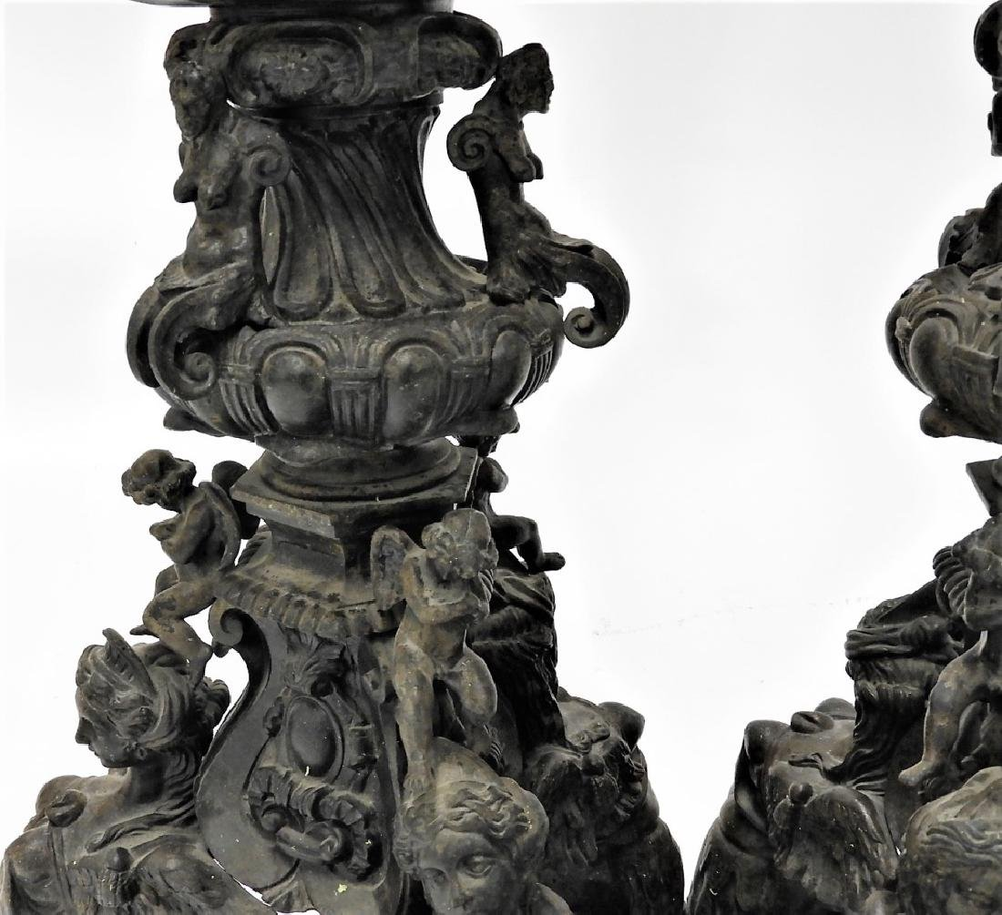 PR Italian Grand Tour Cast Iron Garden Statuary - 8