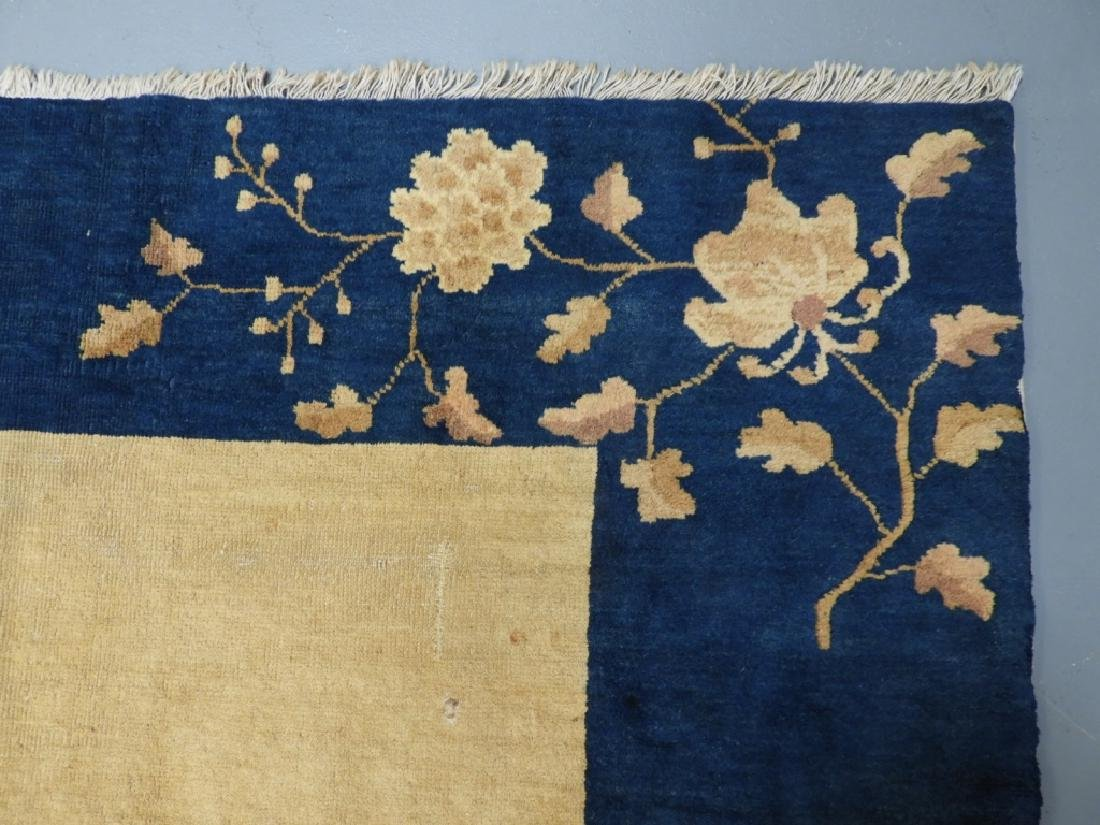 Chinese Art Deco Ivory & Navy Blue Room Size Rug - 5