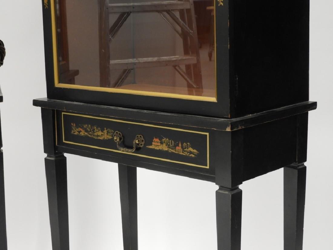 PR American Chinoiserie Decorated Vitrine Cabinets - 2