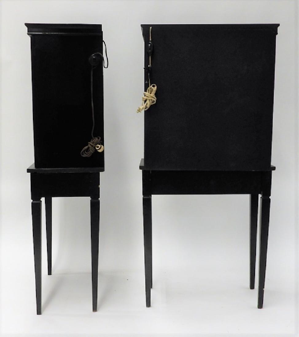 PR American Chinoiserie Decorated Vitrine Cabinets - 5
