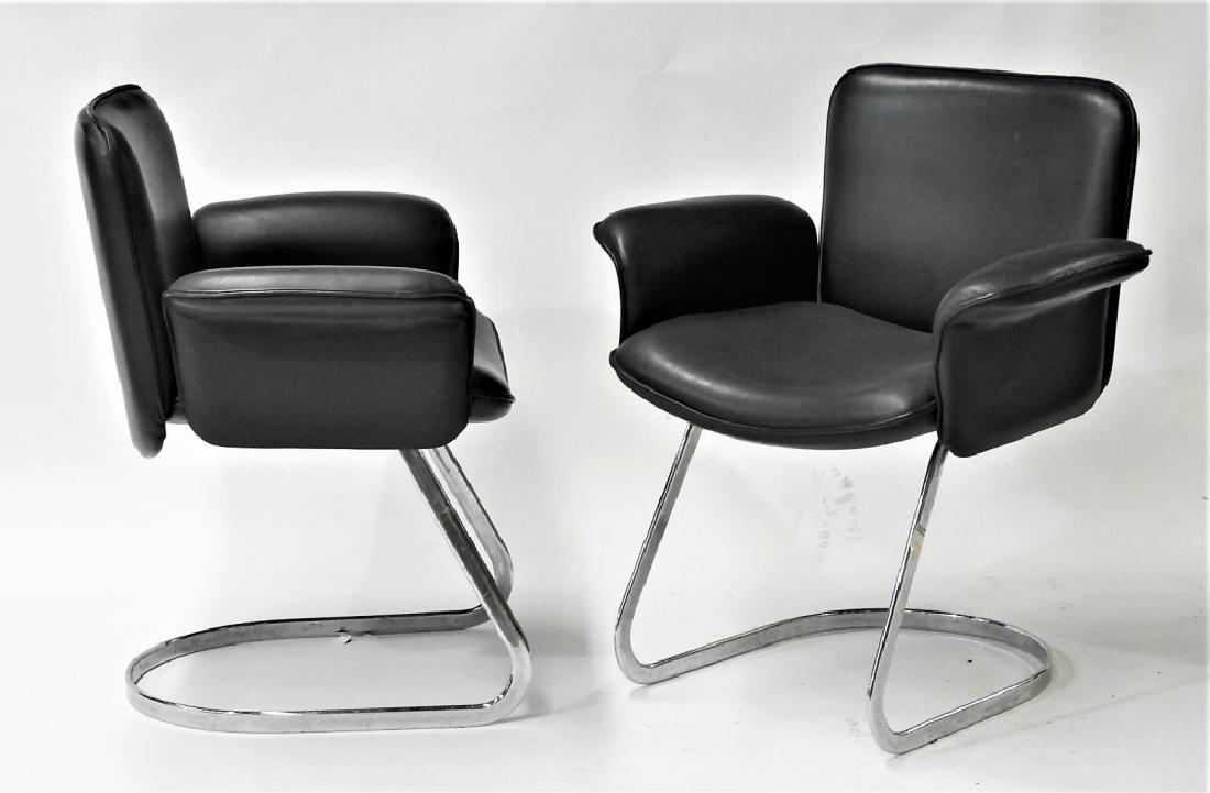 PR Neinkamper Tubular Chrome MCM Arm Chairs