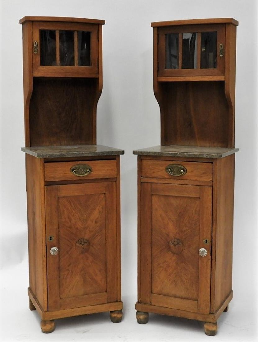 PR Antique French Side Cabinet Commodes
