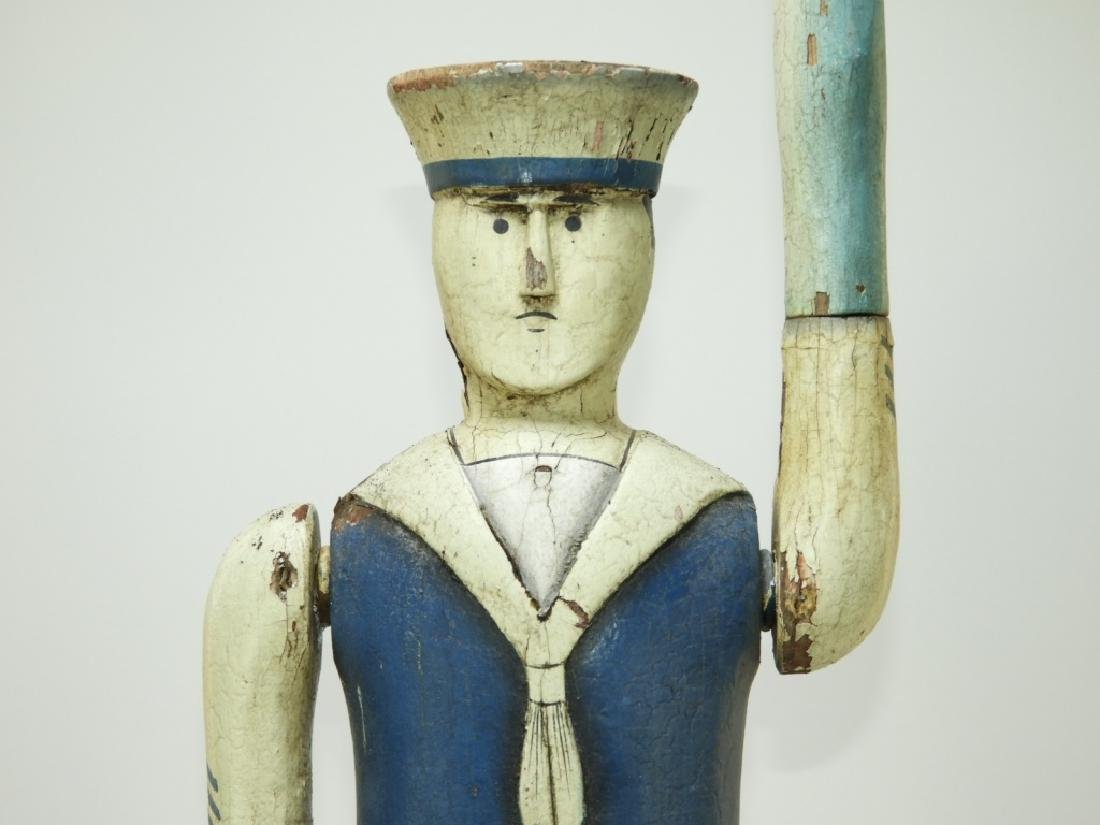 American Folk Art Carved Wood Sailor Whirligig - 2