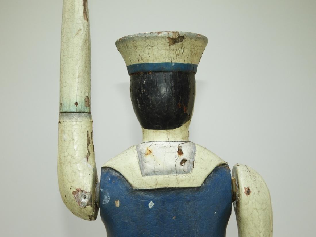 American Folk Art Carved Wood Sailor Whirligig - 7