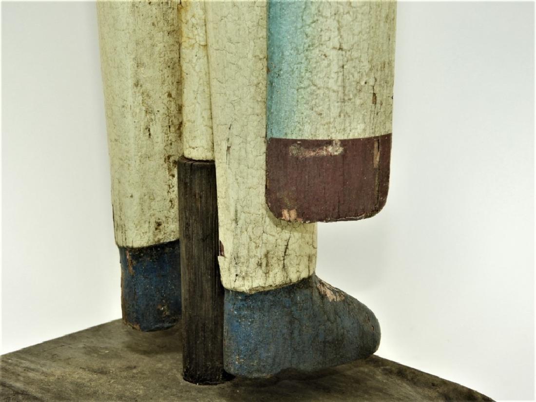 American Folk Art Carved Wood Sailor Whirligig - 8