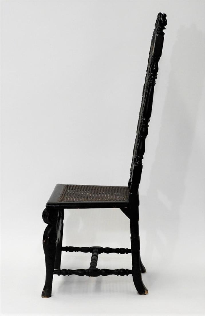 English Jacobean Style Phoenix Bird Side Chair - 6