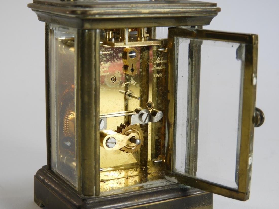 Matthew Norman Diminutive Brass Carriage Clock - 5