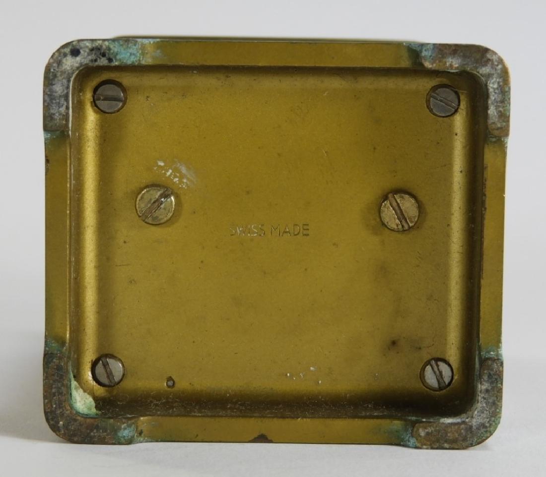 Matthew Norman Diminutive Brass Carriage Clock - 6