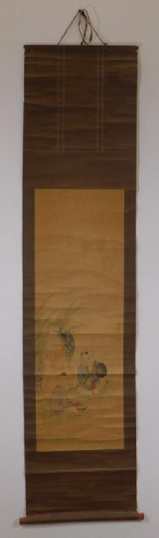 Chinese Scroll Painting of Musicians in Landscape - 2