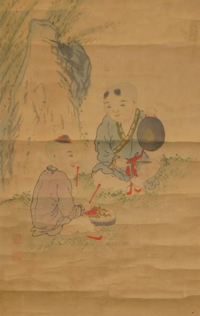 Chinese Scroll Painting of Musicians in Landscape - 3