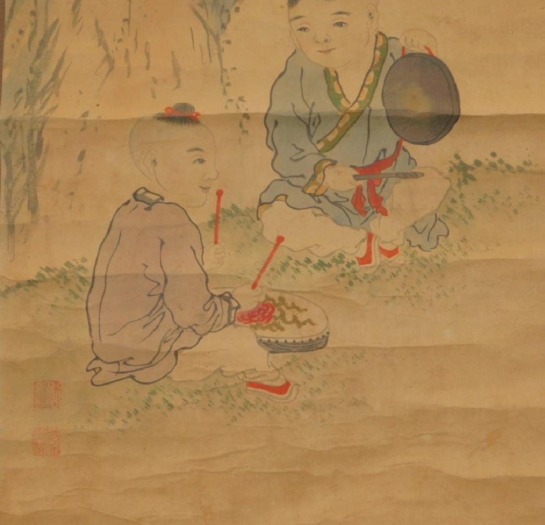 Chinese Scroll Painting of Musicians in Landscape - 4