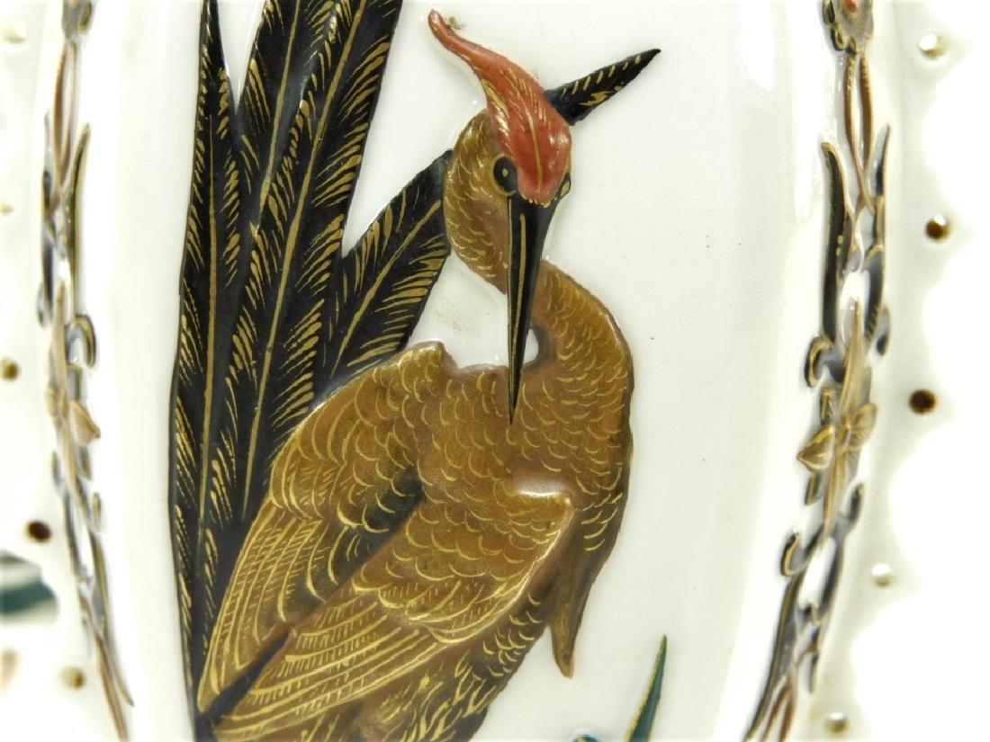PR Royal Worcester Aesthetic Opposed Avian Vases - 5