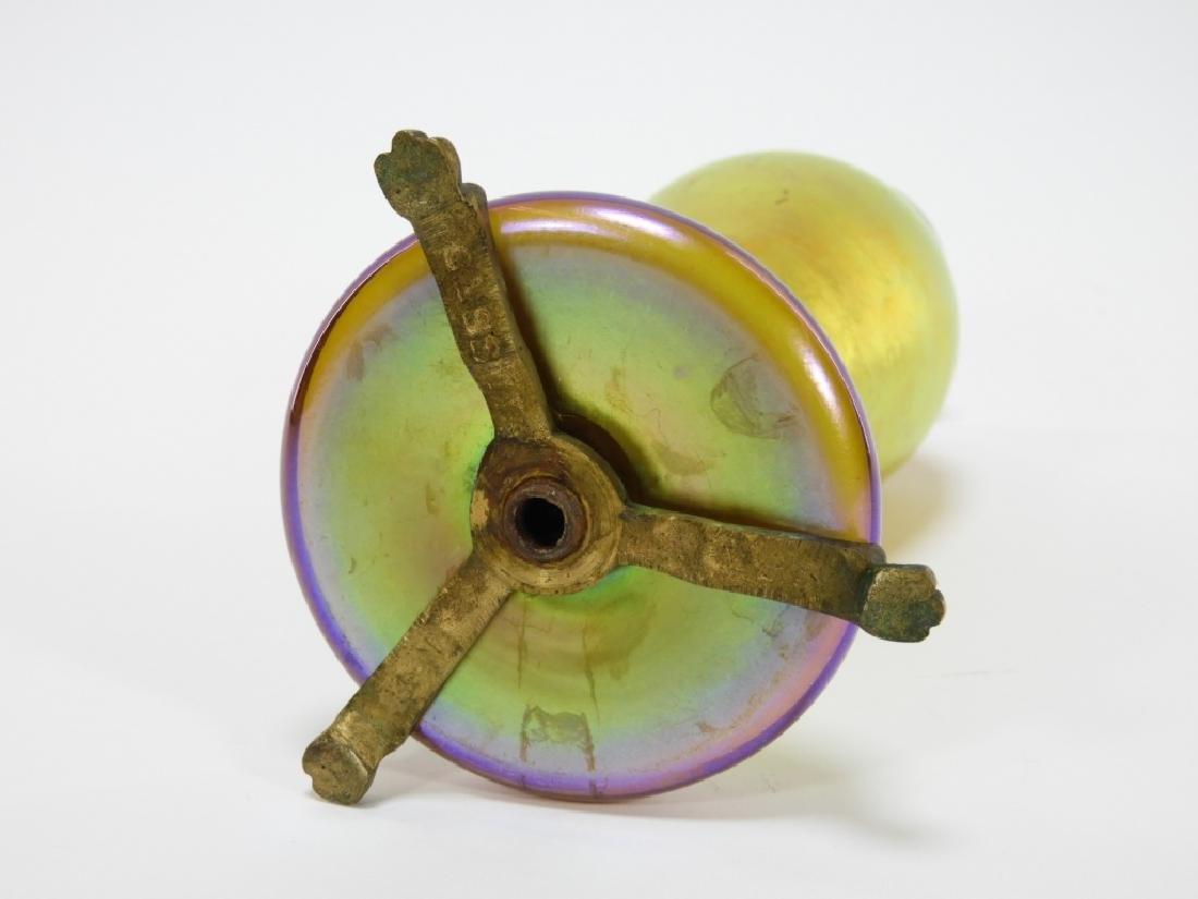Attrib. Steuben Aurene Calcite Art Glass Vase Lamp - 4