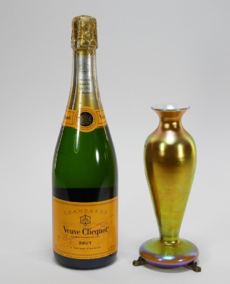 Attrib. Steuben Aurene Calcite Art Glass Vase Lamp - 5