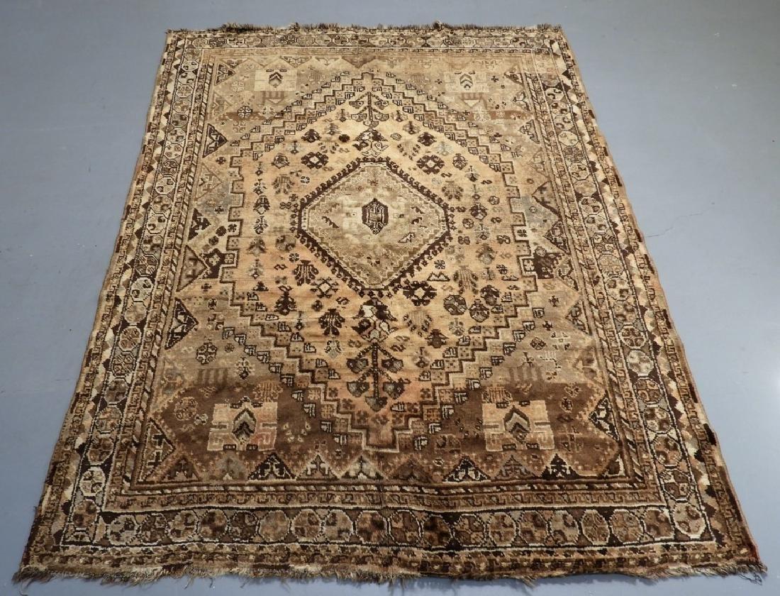 Oriental Persian Ghashghaei Camel Hair Carpet Rug