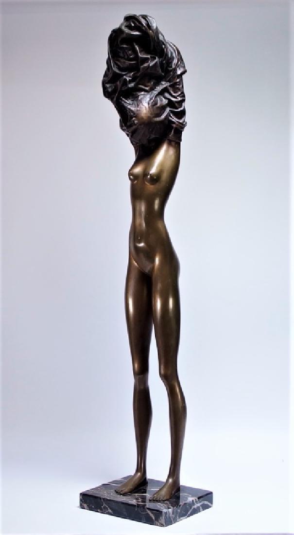Bruno Bruni La Divina Bronze Sculpture of Nude