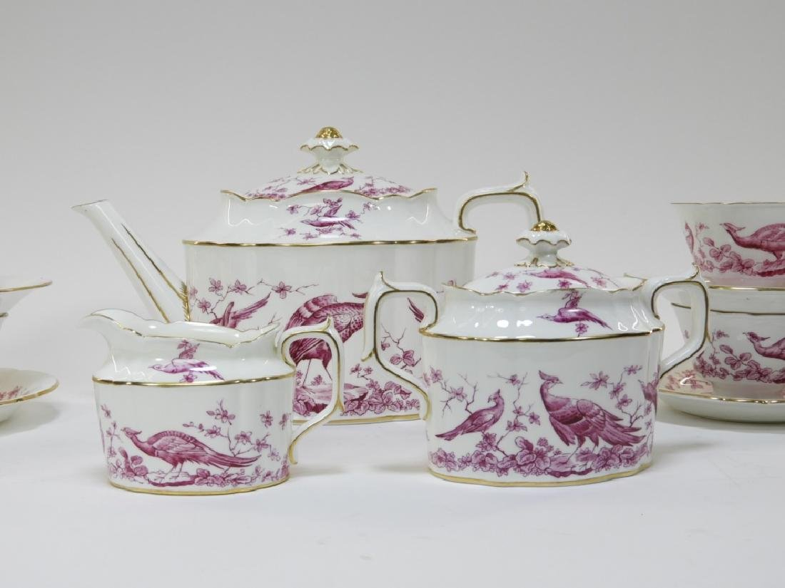 Royal Crown Derby Porcelain Pink Aves Tea Set - 3