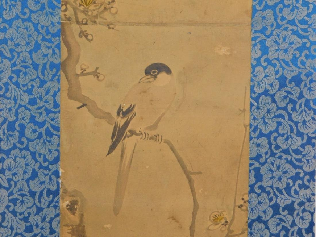19C. Chinese Avian Landscape Scroll Painting - 3