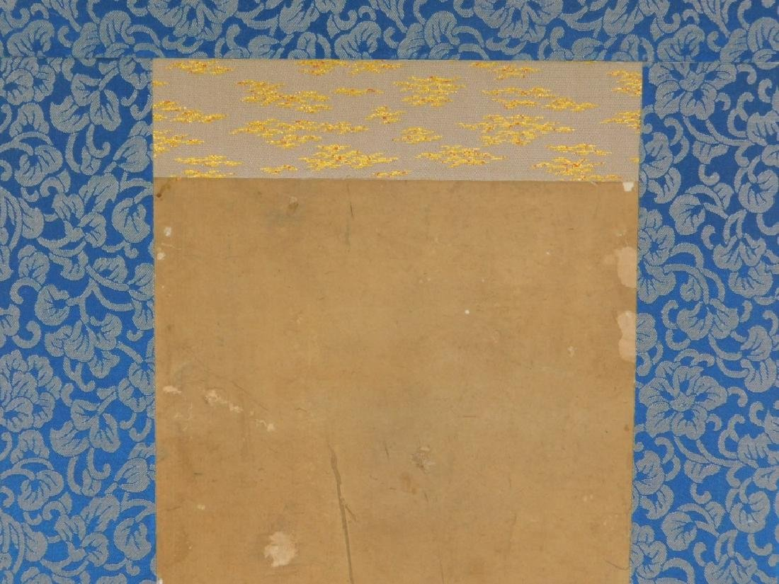 19C. Chinese Avian Landscape Scroll Painting - 4