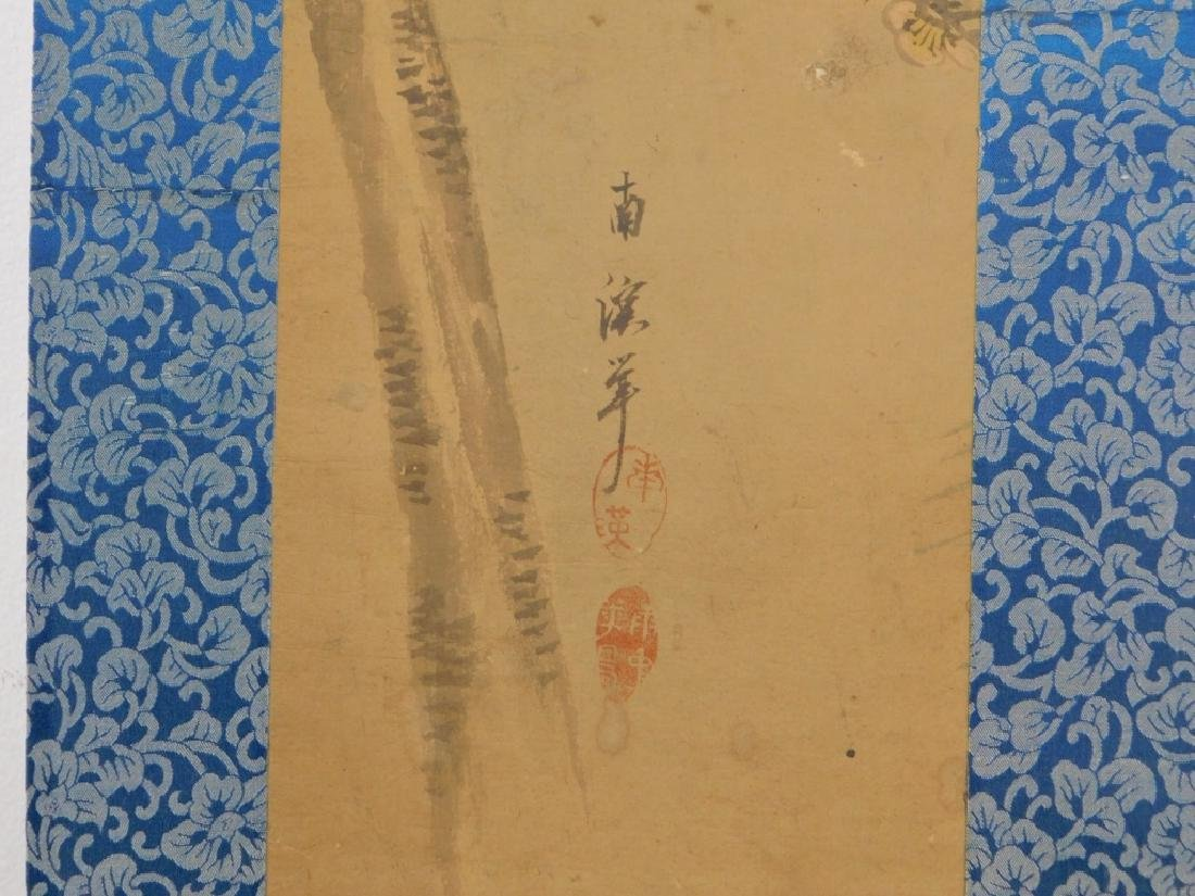19C. Chinese Avian Landscape Scroll Painting - 5
