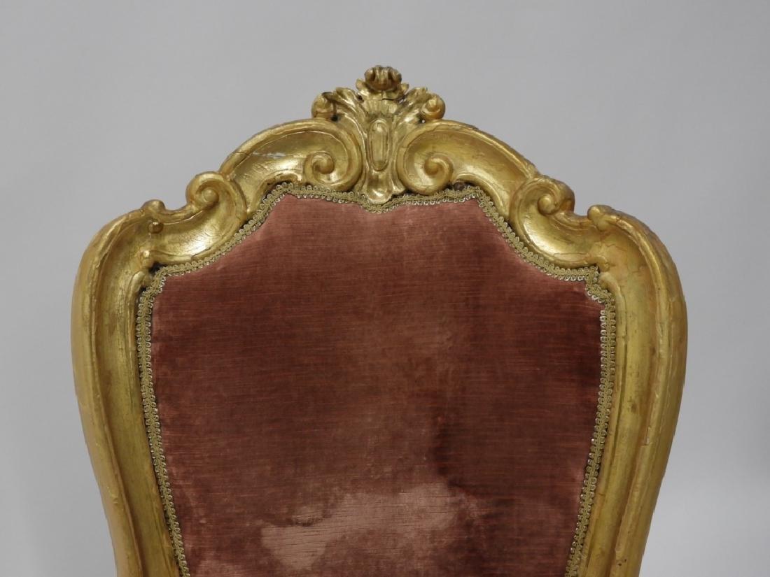 18C. French Louis XV Period Gilt Armchair - 2