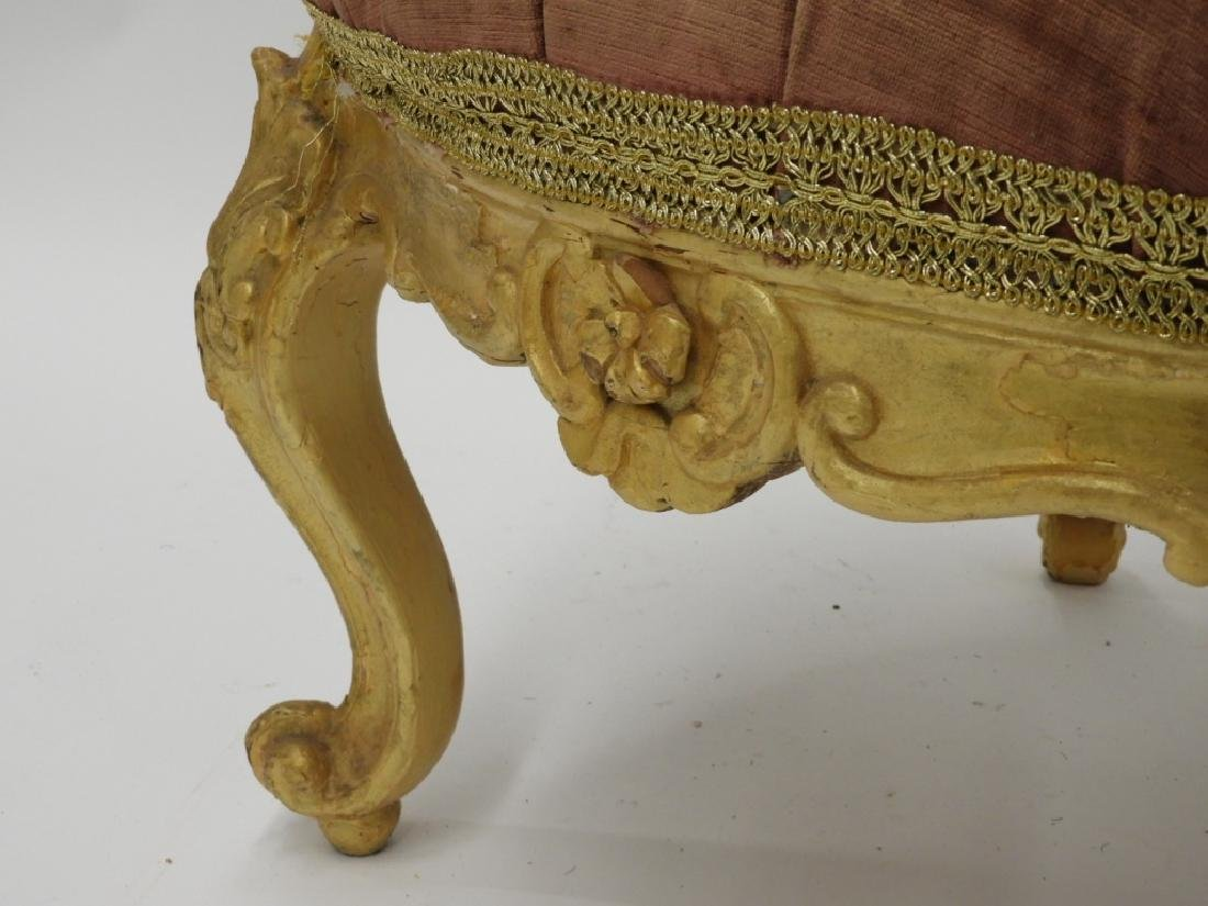 18C. French Louis XV Period Gilt Armchair - 4