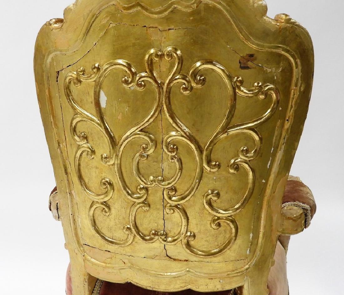 18C. French Louis XV Period Gilt Armchair - 7