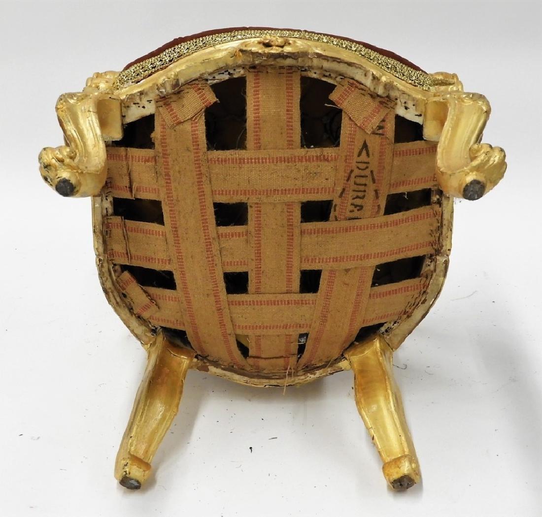 18C. French Louis XV Period Gilt Armchair - 8