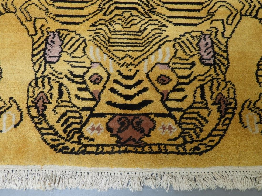 Tibetan Sprawled Tiger Decorative Wool Carpet Rug - 2