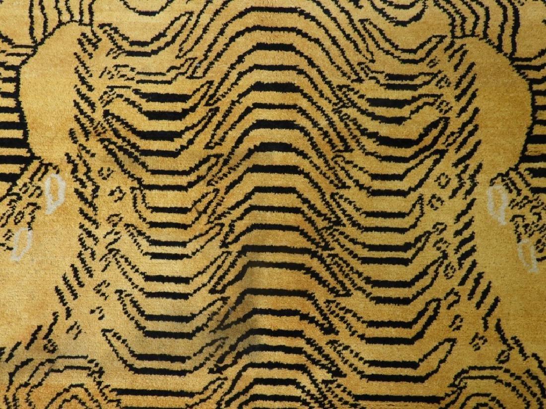 Tibetan Sprawled Tiger Decorative Wool Carpet Rug - 3
