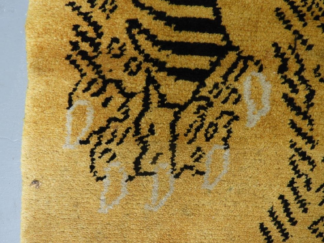 Tibetan Sprawled Tiger Decorative Wool Carpet Rug - 4