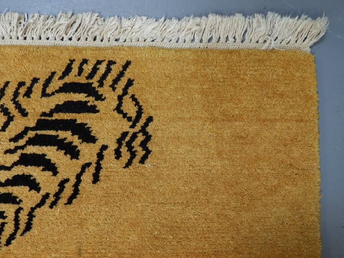 Tibetan Sprawled Tiger Decorative Wool Carpet Rug - 5