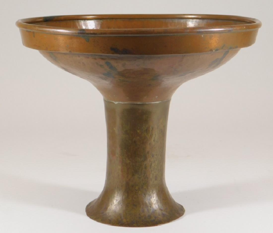 Arts & Crafts Copper & Brass Compote Centerpiece