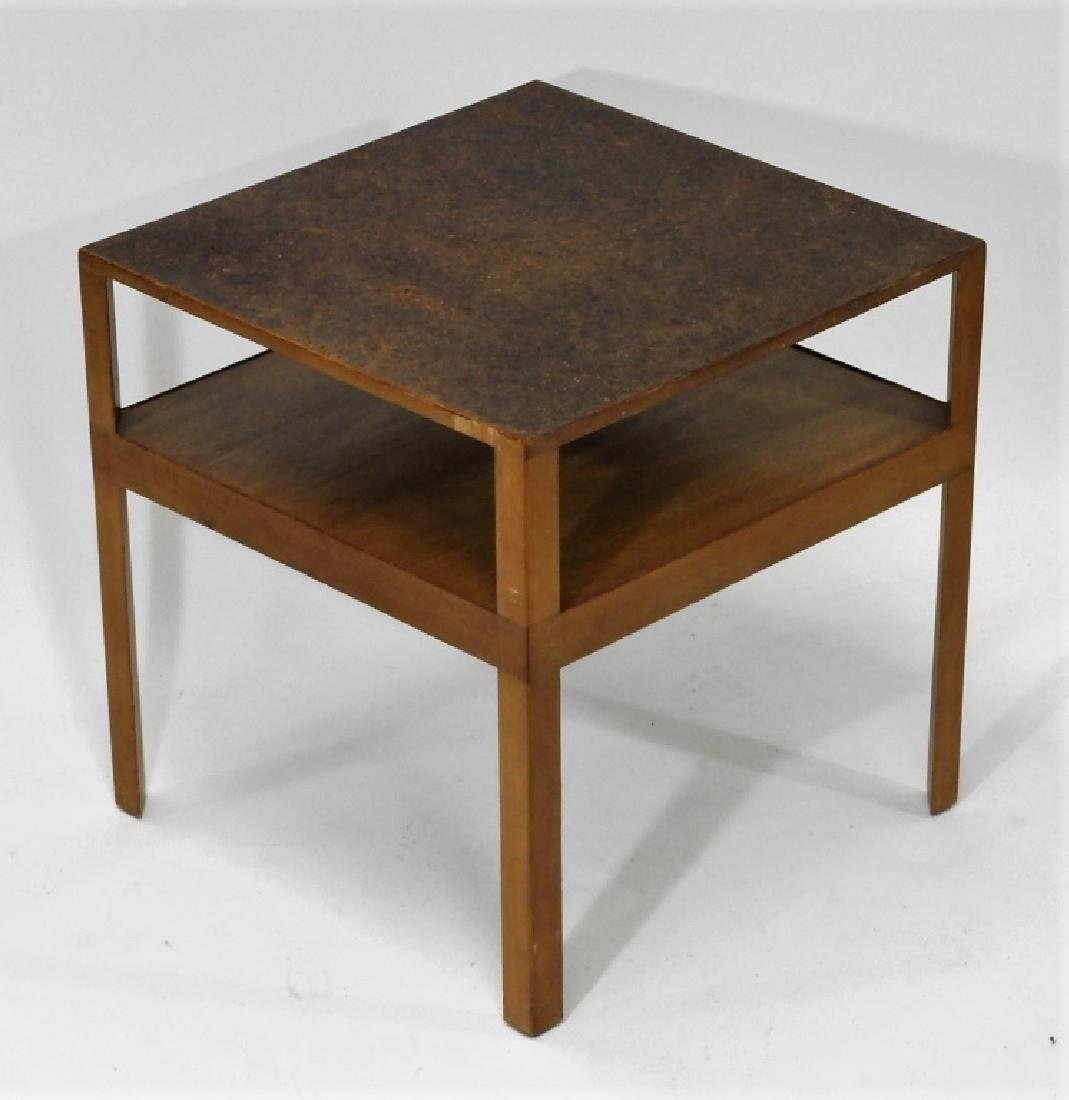 C.1960 MCM Dunbar Cork Top Side Table