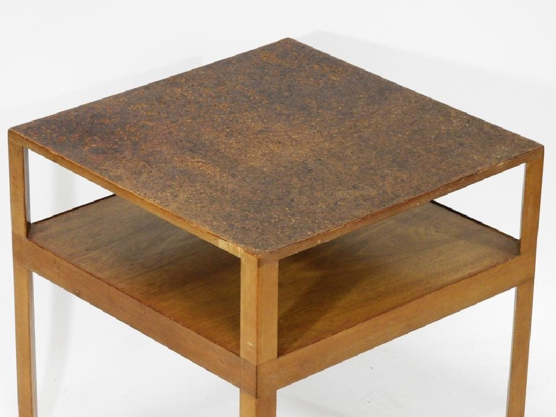C.1960 MCM Dunbar Cork Top Side Table - 2