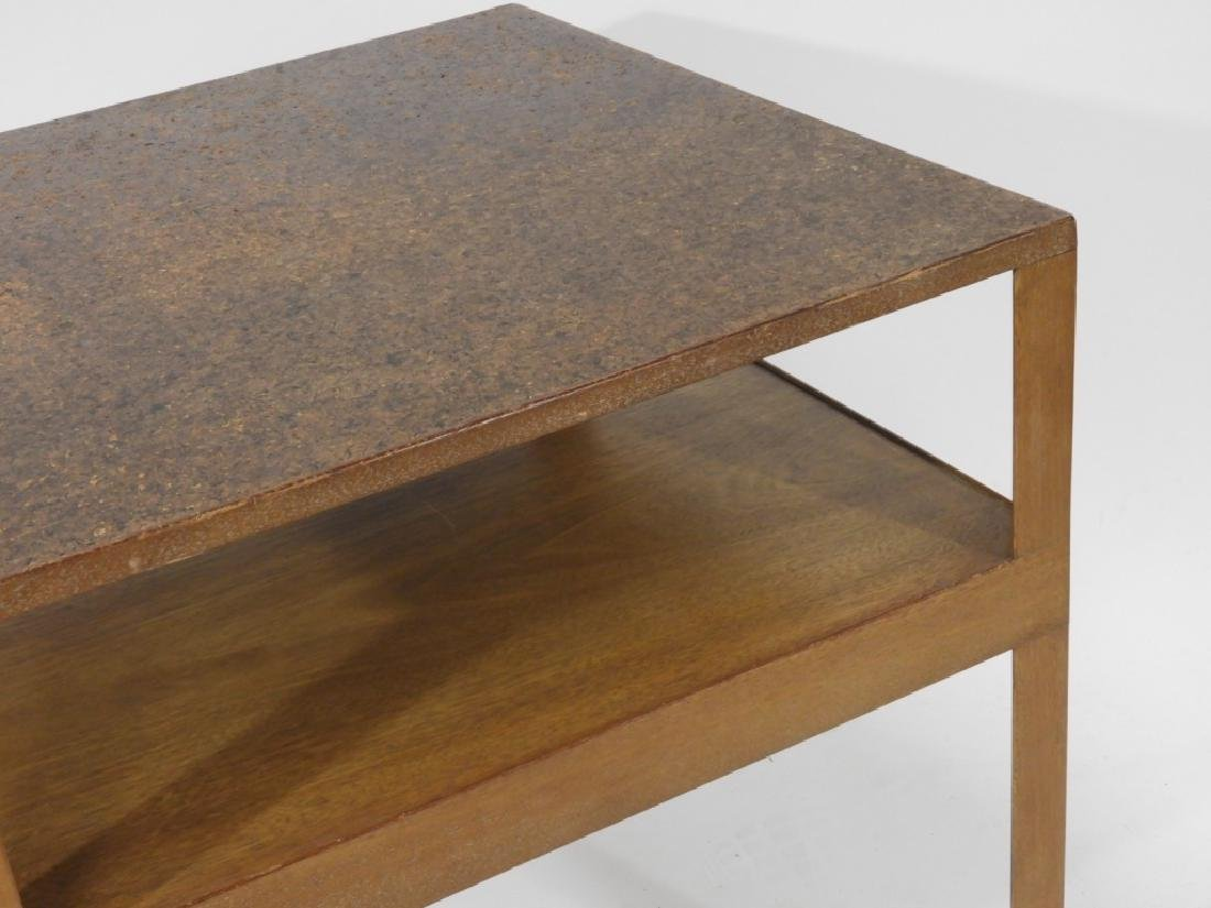 C.1960 MCM Dunbar Cork Top Side Table - 3