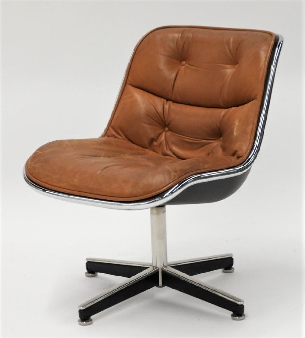 Charles Pollock for Knoll Leather Office Chair