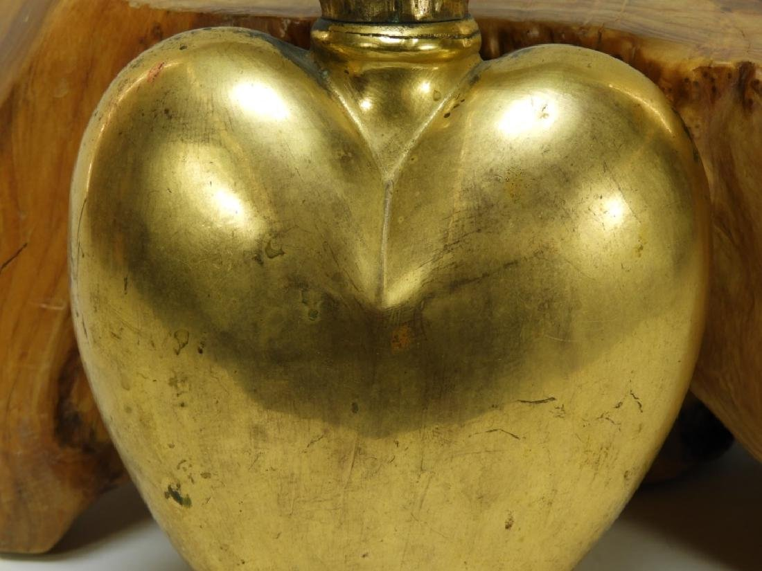 French Gilt Brass Sacred Heart Reliquary - 3
