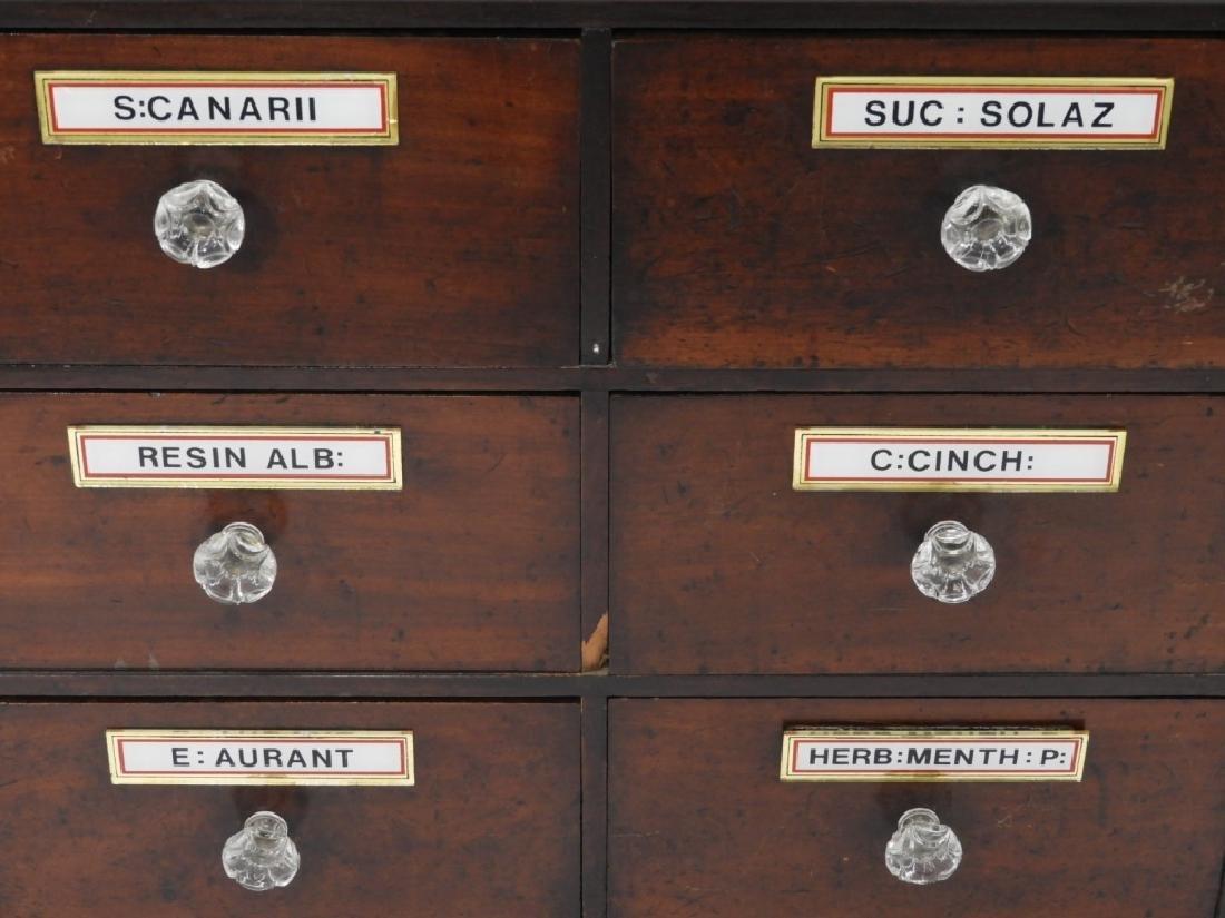 19C. Mahogany 6 Draw Apothecary Cabinet - 3
