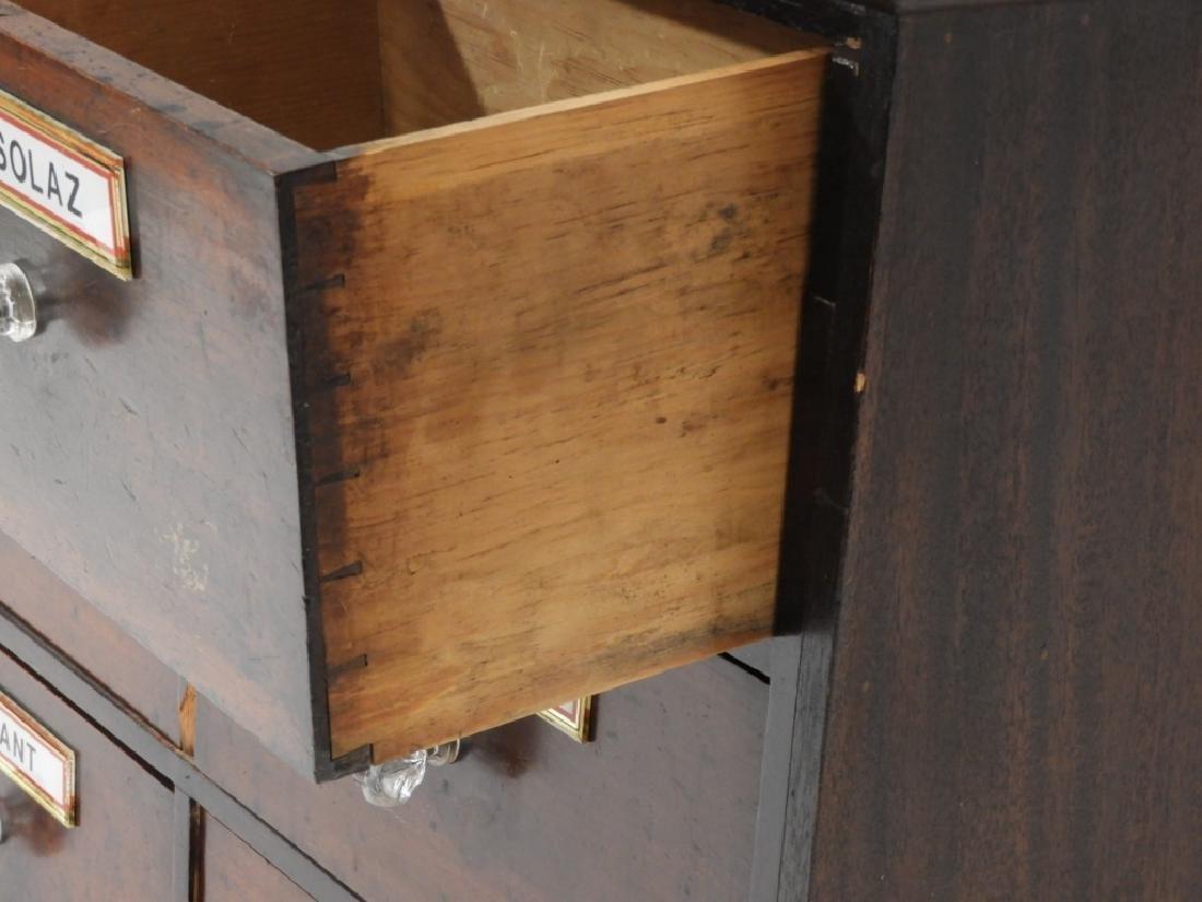19C. Mahogany 6 Draw Apothecary Cabinet - 4