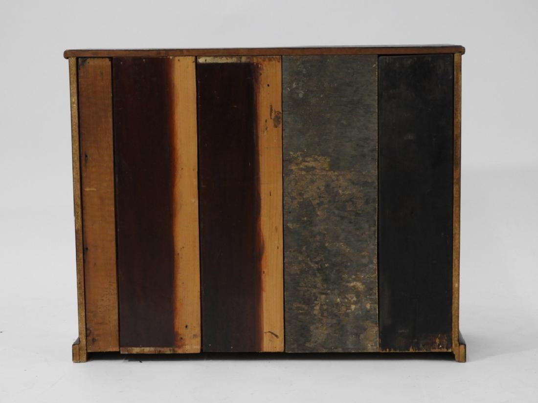 19C. Mahogany 6 Draw Apothecary Cabinet - 5