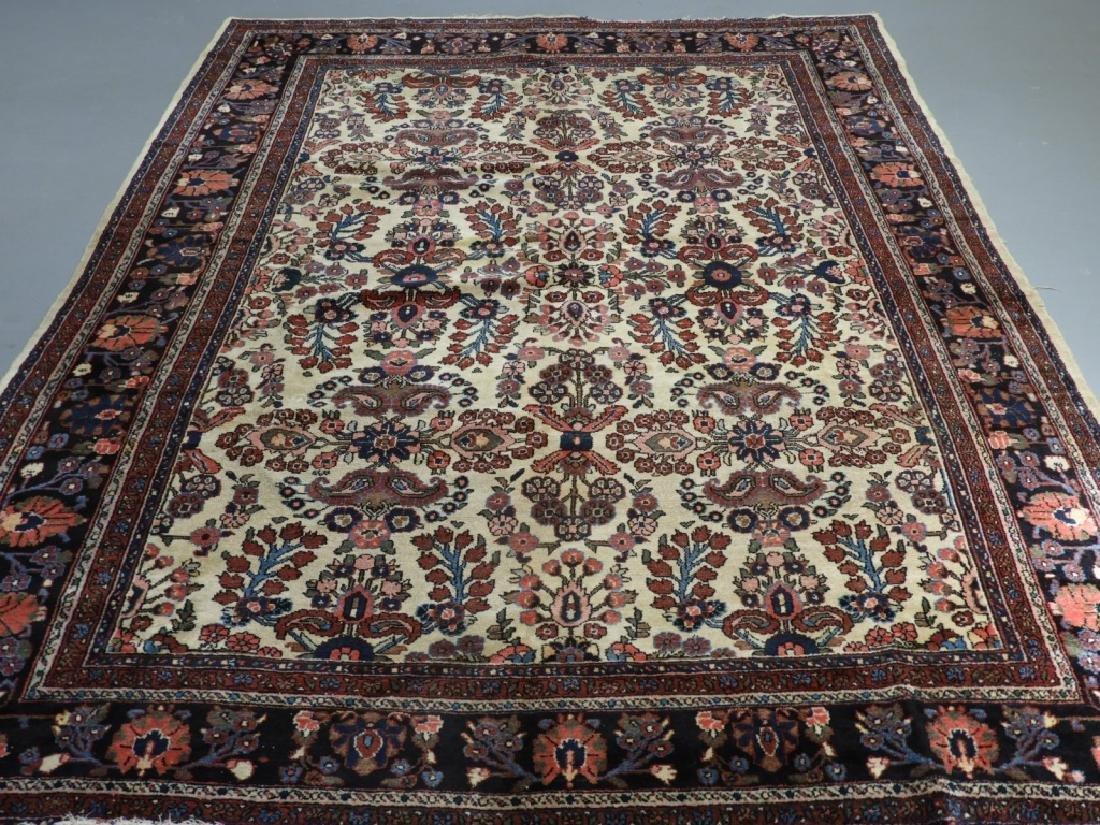 Oriental Persian Ivory Heriz Room Size Carpet Rug